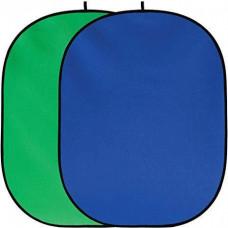 Фон в пружинной рамке Visico BP-028 2в1 Chroma Key Хромакей (зелёный/синий) 150x200см
